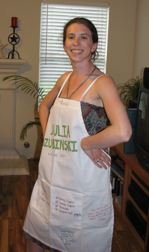Julia Modeling Her New Apron