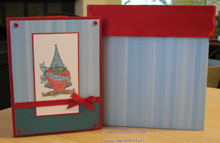 Card and Decorated Box