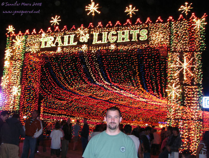 James at the Beginning of the Trail of Lights