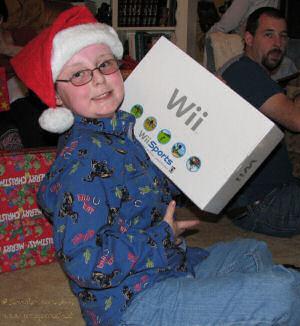 Dawson Opening his Wii