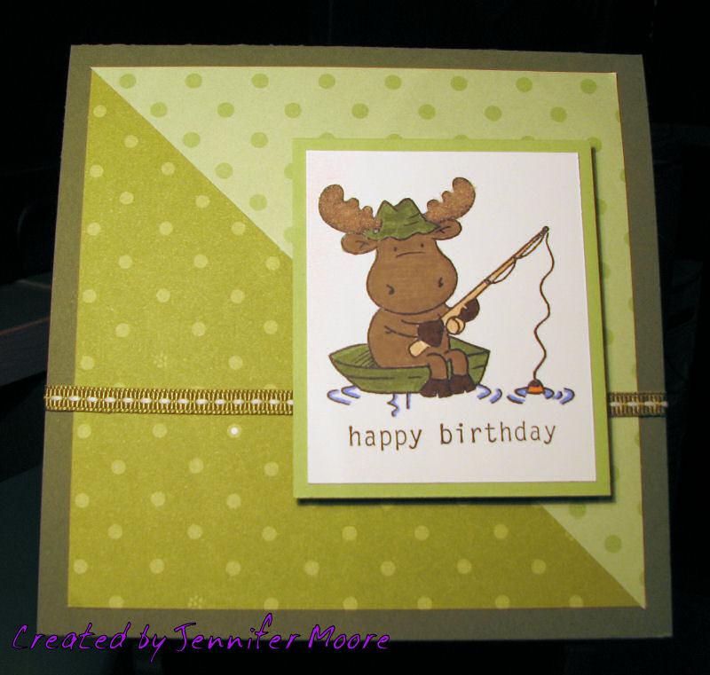 Happy Birthday Card with Fishing Riley