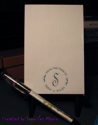 Monogrammed Notepad and Pen