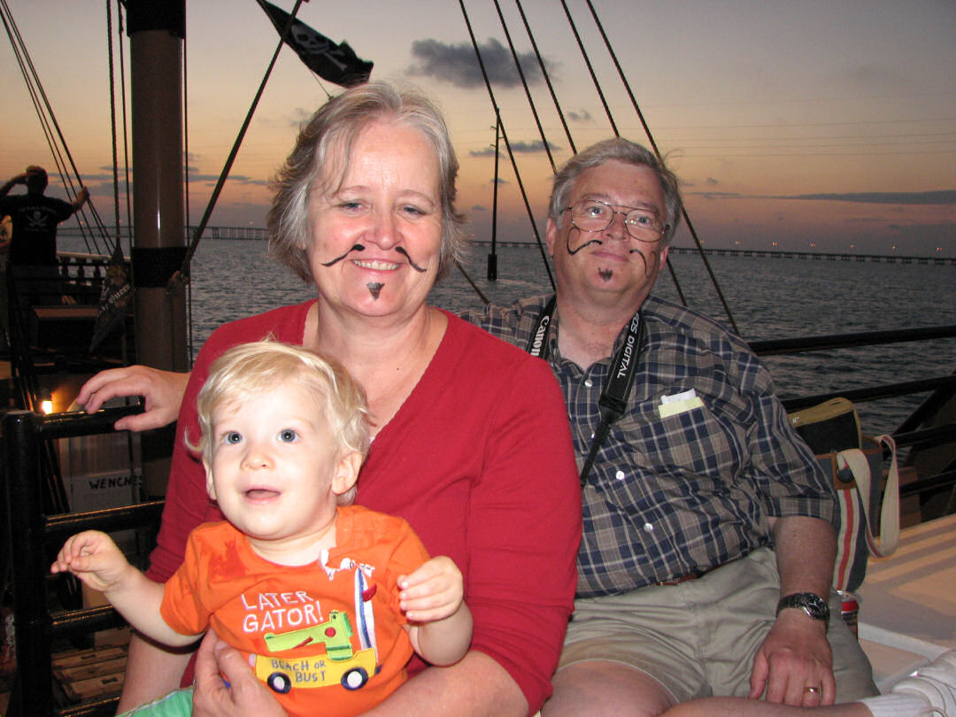 Cameron, Mary Ann and John as Pirates