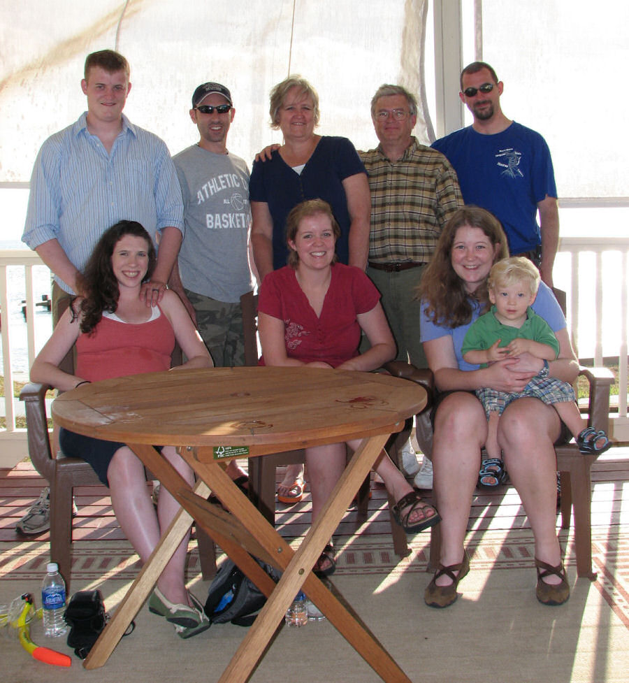 Group Photo on the Veranda of the Redfish Inn