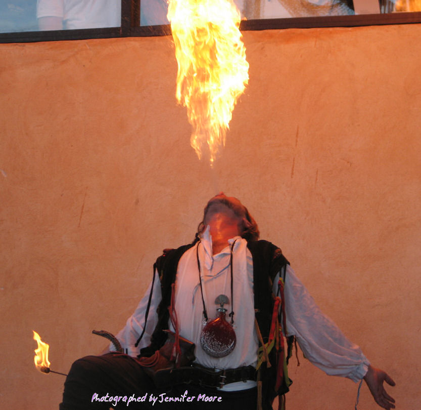 Fire Breathing Pirate