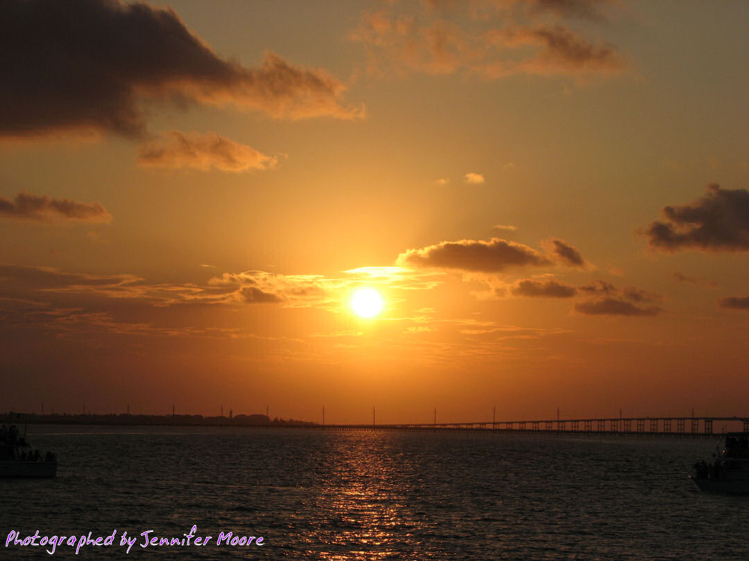 Sunset over the Queen Isabella Causeway