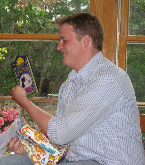 Jason Opening a Gift