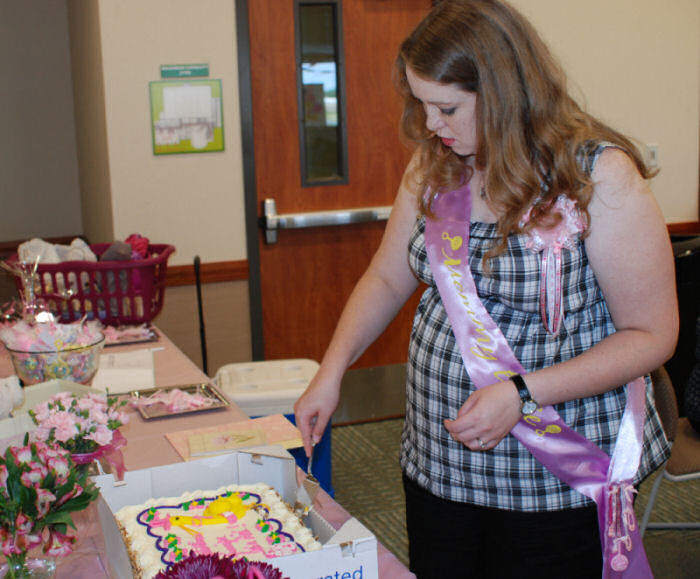 Jennifer Cutting Cake