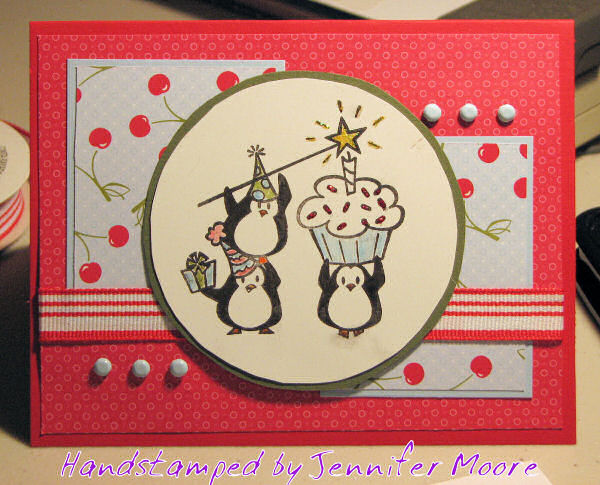 the cat's pajamas rubber stamps  jamsquared, Birthday card