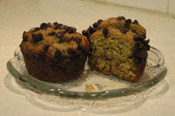 Banana Chocolate Crumb Muffins