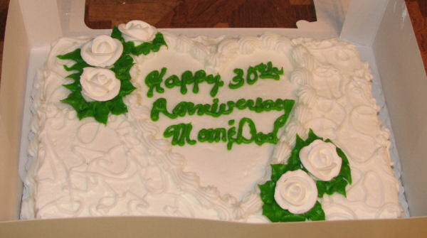 Anniversary Cake Pic For Mom Dad : Happy 30th Anniversary Mom & Dad!   JAMSquared